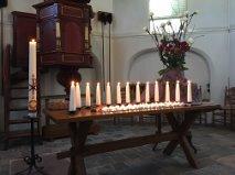 Liturgisch bloemstuk gemaakt door Arja