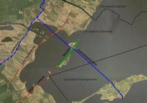 Kaart met de ligging (groen) van het voormalige dorp Beulake.  (bron collectie Arco Lassche)